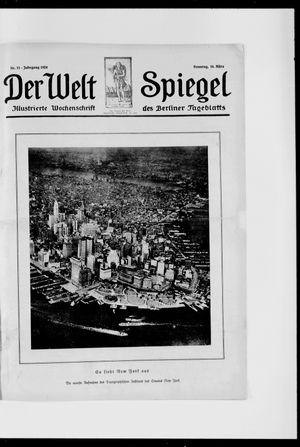 Berliner Tageblatt und Handels-Zeitung vom 16.03.1924
