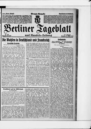 Berliner Tageblatt und Handels-Zeitung vom 18.03.1924