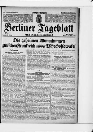 Berliner Tageblatt und Handels-Zeitung vom 19.03.1924