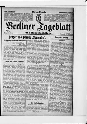Berliner Tageblatt und Handels-Zeitung vom 20.03.1924