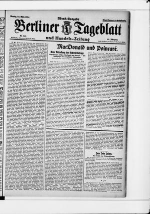 Berliner Tageblatt und Handels-Zeitung vom 24.03.1924