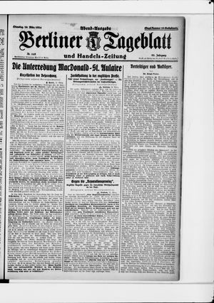 Berliner Tageblatt und Handels-Zeitung vom 25.03.1924