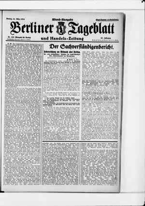 Berliner Tageblatt und Handels-Zeitung vom 31.03.1924