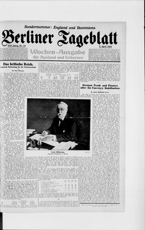 Berliner Tageblatt und Handels-Zeitung vom 03.04.1924
