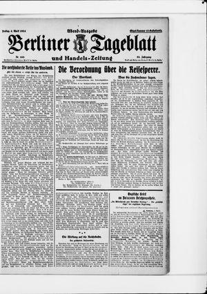 Berliner Tageblatt und Handels-Zeitung vom 04.04.1924