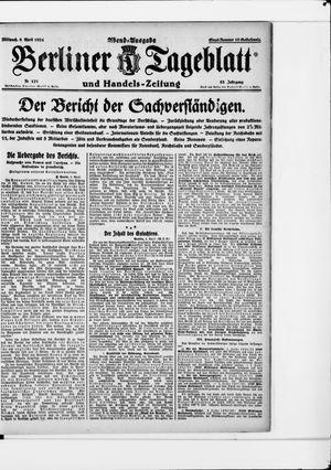 Berliner Tageblatt und Handels-Zeitung vom 09.04.1924
