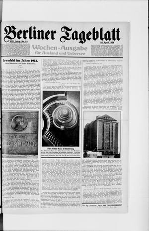 Berliner Tageblatt und Handels-Zeitung vom 10.04.1924
