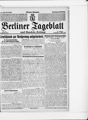 Berliner Tageblatt und Handels-Zeitung vom 12.04.1924