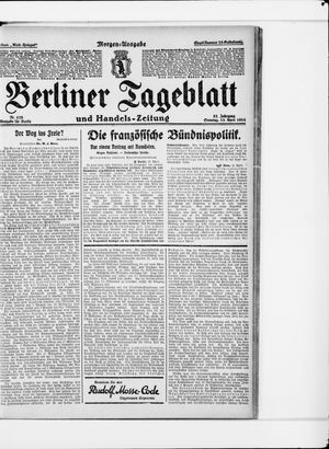 Berliner Tageblatt und Handels-Zeitung vom 13.04.1924