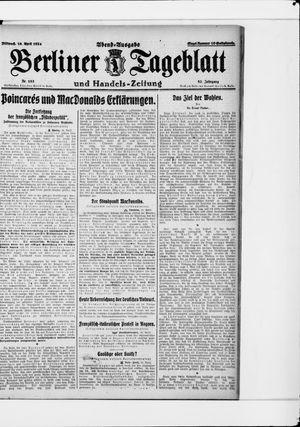 Berliner Tageblatt und Handels-Zeitung vom 16.04.1924