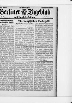 Berliner Tageblatt und Handels-Zeitung on Apr 19, 1924