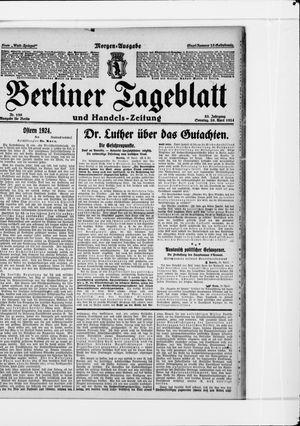 Berliner Tageblatt und Handels-Zeitung vom 20.04.1924