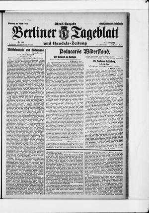 Berliner Tageblatt und Handels-Zeitung vom 22.04.1924