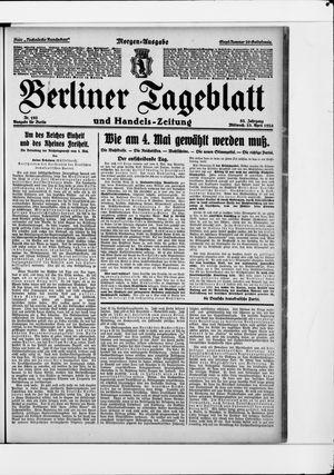 Berliner Tageblatt und Handels-Zeitung vom 23.04.1924
