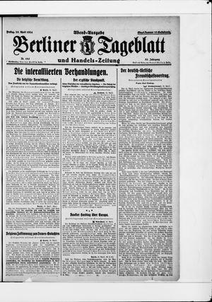 Berliner Tageblatt und Handels-Zeitung vom 25.04.1924