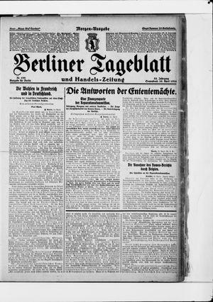 Berliner Tageblatt und Handels-Zeitung vom 26.04.1924