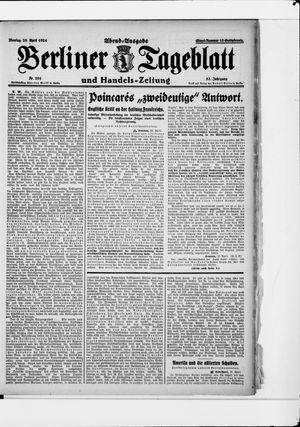 Berliner Tageblatt und Handels-Zeitung vom 28.04.1924