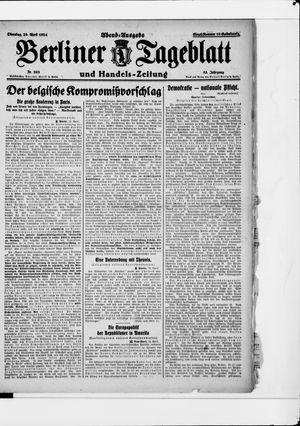 Berliner Tageblatt und Handels-Zeitung vom 29.04.1924