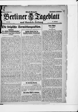 Berliner Tageblatt und Handels-Zeitung vom 30.04.1924