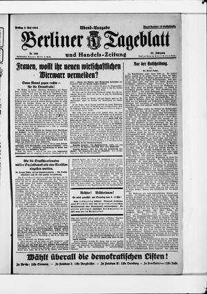 Berliner Tageblatt und Handels-Zeitung vom 02.05.1924