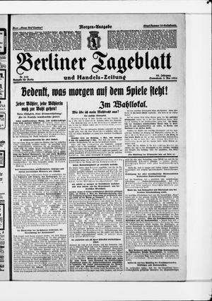 Berliner Tageblatt und Handels-Zeitung on May 3, 1924
