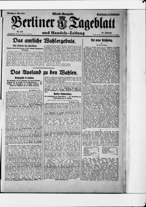 Berliner Tageblatt und Handels-Zeitung vom 06.05.1924