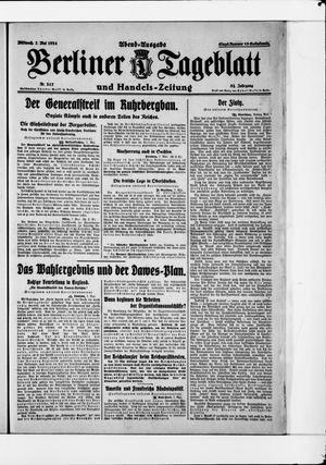 Berliner Tageblatt und Handels-Zeitung vom 07.05.1924