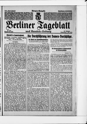 Berliner Tageblatt und Handels-Zeitung vom 08.05.1924