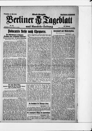 Berliner Tageblatt und Handels-Zeitung vom 10.05.1924