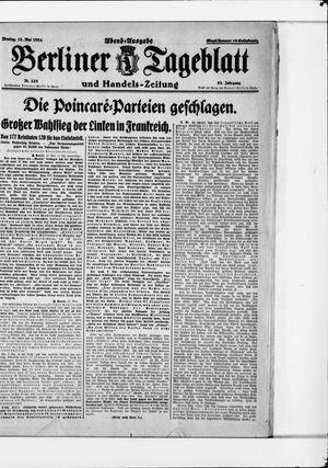 Berliner Tageblatt und Handels-Zeitung vom 12.05.1924