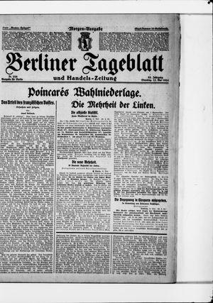 Berliner Tageblatt und Handels-Zeitung vom 13.05.1924