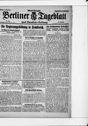 Berliner Tageblatt und Handels-Zeitung on May 16, 1924