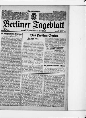 Berliner Tageblatt und Handels-Zeitung vom 18.05.1924