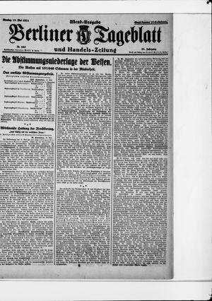 Berliner Tageblatt und Handels-Zeitung vom 19.05.1924