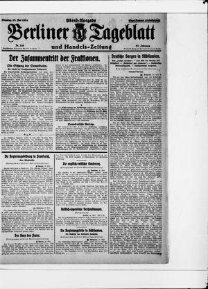Berliner Tageblatt und Handels-Zeitung vom 20.05.1924