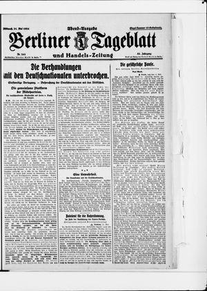 Berliner Tageblatt und Handels-Zeitung vom 21.05.1924