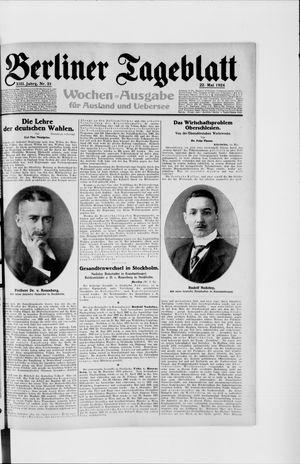Berliner Tageblatt und Handels-Zeitung vom 22.05.1924