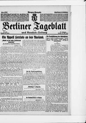 Berliner Tageblatt und Handels-Zeitung on May 23, 1924