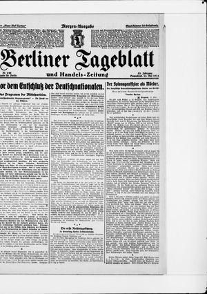 Berliner Tageblatt und Handels-Zeitung vom 24.05.1924