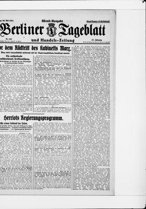 Berliner Tageblatt und Handels-Zeitung vom 26.05.1924