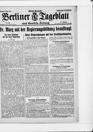 Berliner Tageblatt und Handels-Zeitung vom 28.05.1924