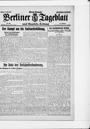 Berliner Tageblatt und Handels-Zeitung vom 30.05.1924