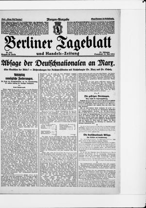 Berliner Tageblatt und Handels-Zeitung vom 31.05.1924