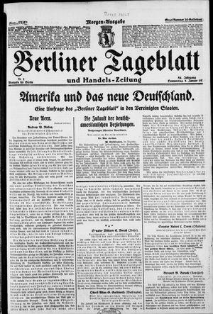 Berliner Tageblatt und Handels-Zeitung vom 01.01.1925