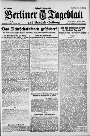 Berliner Tageblatt und Handels-Zeitung vom 03.01.1925
