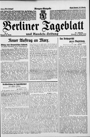 Berliner Tageblatt und Handels-Zeitung vom 04.01.1925