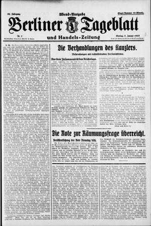 Berliner Tageblatt und Handels-Zeitung vom 05.01.1925