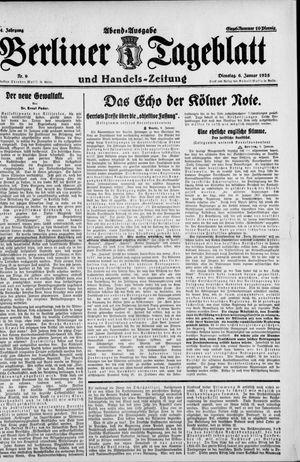 Berliner Tageblatt und Handels-Zeitung vom 06.01.1925