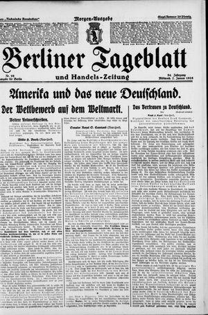Berliner Tageblatt und Handels-Zeitung vom 07.01.1925