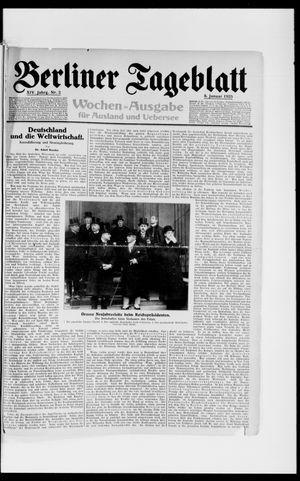Berliner Tageblatt und Handels-Zeitung vom 08.01.1925